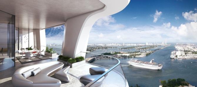 1000 Museum -Balcony. Image © Zaha Hadid Architects