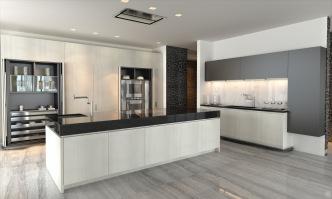 1000 Museum -Kitchen. Image © Zaha Hadid Architects