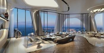 1000 Museum -Living Room . Image © Zaha Hadid Architects
