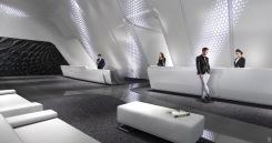 1000 Museum - Lobby. Image © Zaha Hadid Architects