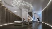 1000 Museum -Spa Lobby. Image © Zaha Hadid Architects