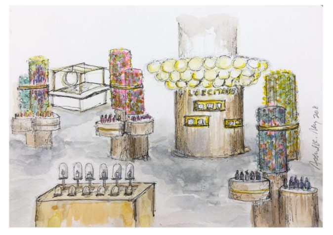 LOCCITANE_Pop-Up-Cafe-Artist-impression-drawing_Astrid.K_02--768x543